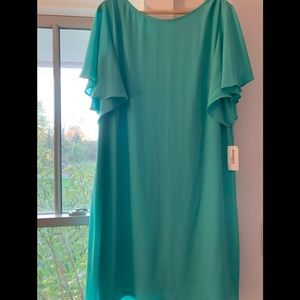 NWT Dressbarn lined dress with flutter sleeves